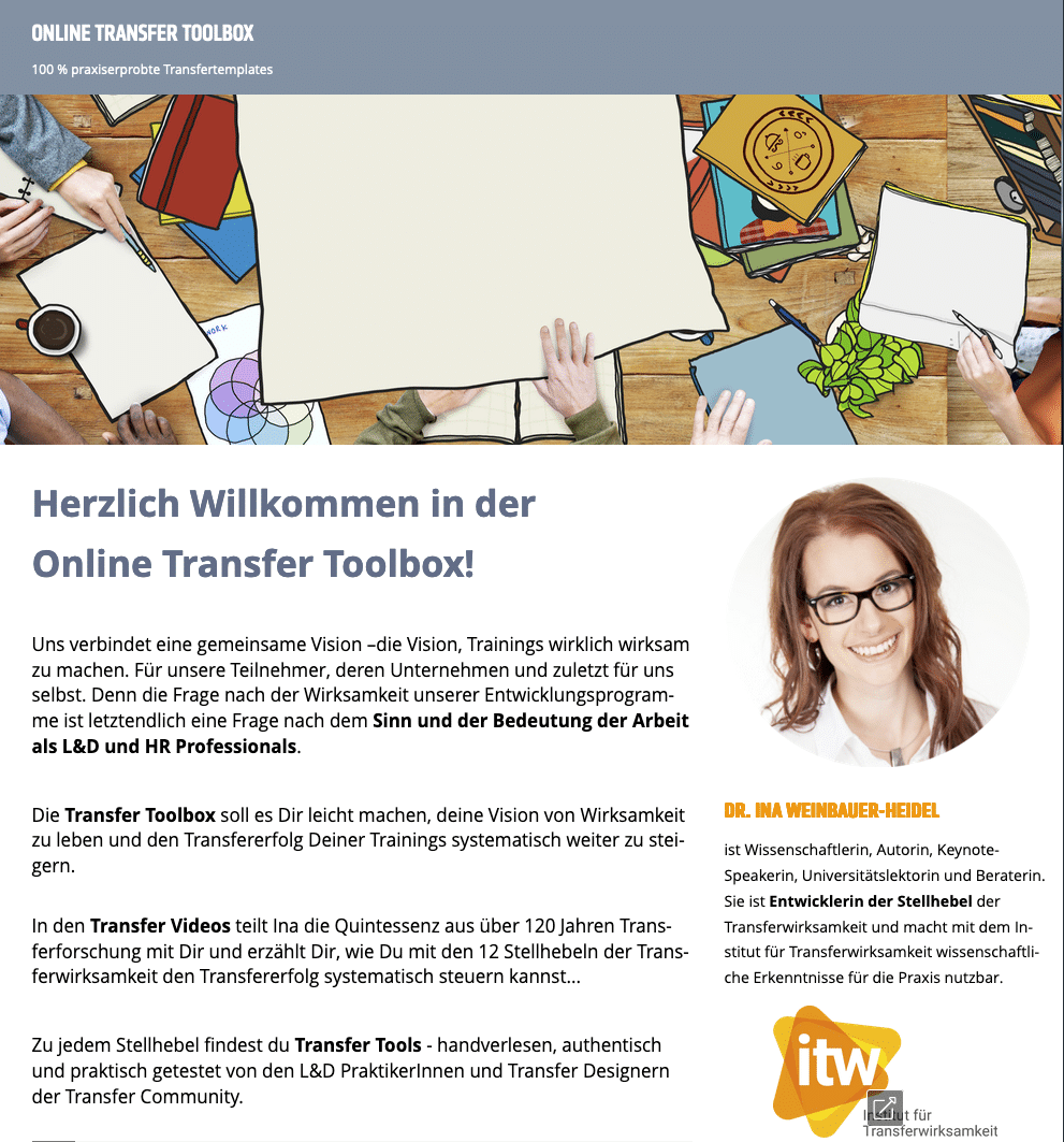 Online Transfer Toolbox